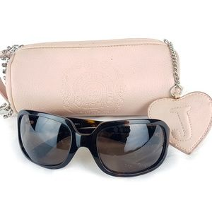 Juicy Couture Brown Sunglasses and Barrel Case